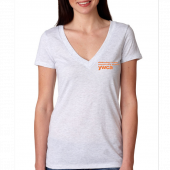 YWCA Ladies White Deep V Neck Tee